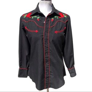 Vintage Chute #1 western embroidered button down